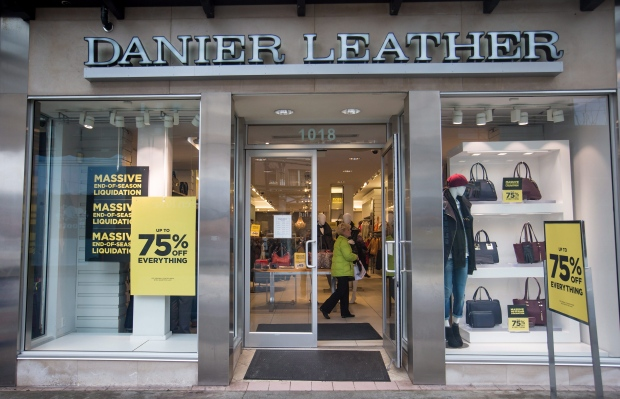 Danier Leather store in B.C.