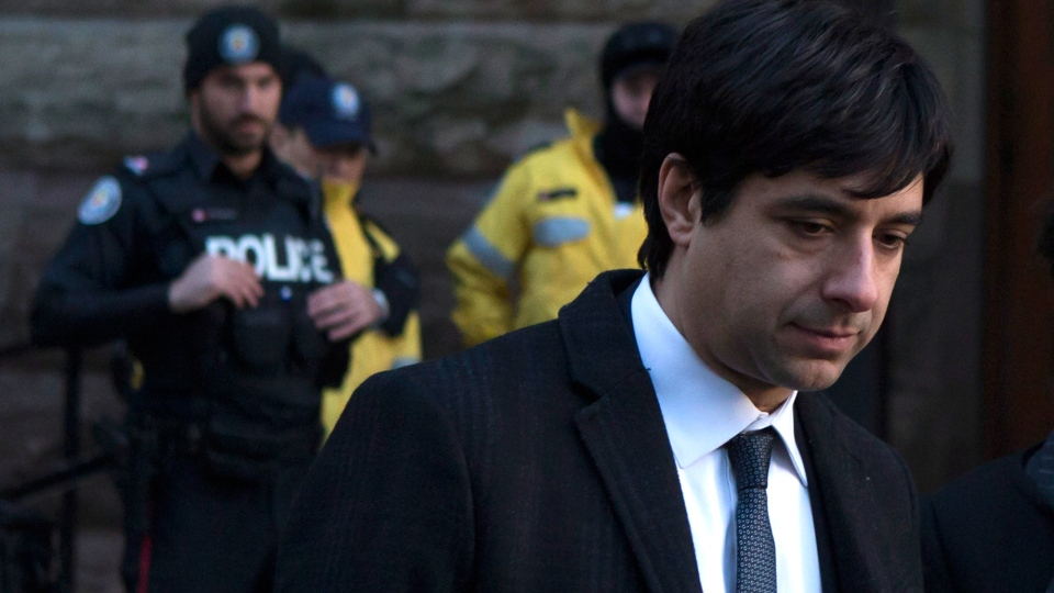 Jian Ghomeshi leaves a Toronto court after day three of his trial on Thursday, Feb. 4, 2016. (Chris Young / THE CANADIAN PRESS)