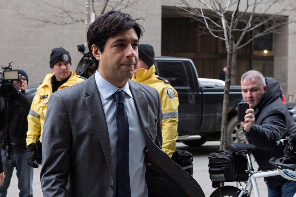 Former CBC radio host Jian Ghomeshi arrives at a Toronto court on Friday, Feb. 5, 2016. (Chris Young / THE CANADIAN PRESS)