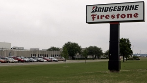 In this April 28, 2006 file photo, Bridgestone/Firestone's Dayton tire plant is pictured in Oklahoma City. (AP)