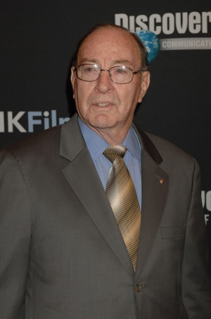 In this Sept. 5, 2007 file photo, former astronaut Edgar Mitchell arrives for the premiere of the 'In the Shadow of the Moon,' at the Hayden Planetarium at the Museum of Natural History in New York. (AP / Henny Ray Abrams)