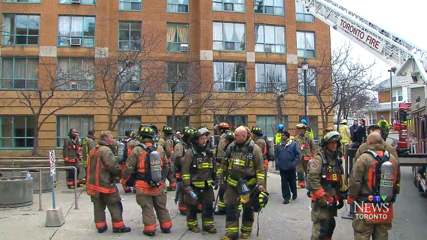 Fire at TCHC building
