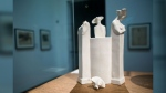 A ceramic vase by Michael Powolny is on display at the opening of the exhibition 'Hidden treasures of the collection' in Leopold Museum in Vienna. (AFP/Vladimir Simicek)