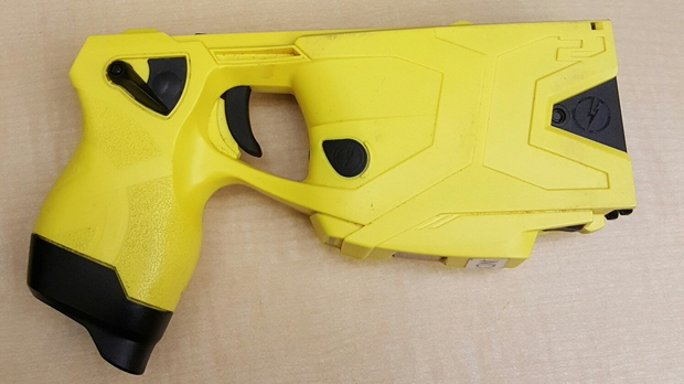A suspect discharged a stolen police Taser during a confrontation with a large group of people outside the same nightclub where it was taken three weeks ago, Winnipeg police said. (File image)