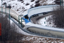 Bobsled and luge tracks at Canada Olympic Park