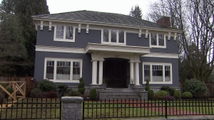A home in Vancouver's Shaughnessy neighbourhood is shown on Feb. 7, 2016. (CTV Vancouver).