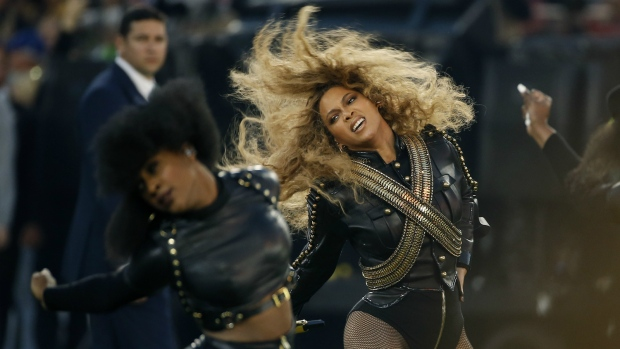 Beyonce performs during halftime of the NFL Super Bowl 50 football game in Santa Clara, Calif. on Sunday, Feb. 7, 2016. (AP / Matt Slocum)