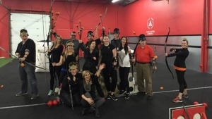 The Canada AM team at Archers Arena in Toronto.
