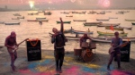This image taken from a YouTube shows a scene from the latest Coldplay music video for the song 'Hymn for a Weekend.' (YouTube/Coldplay Official)