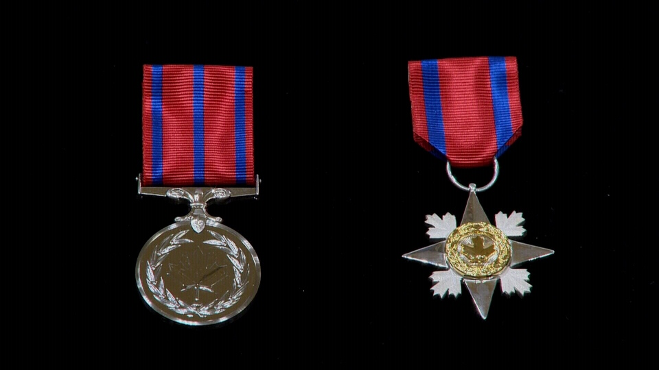 The medal of bravery and the star of courage were presented a today's ceremony.