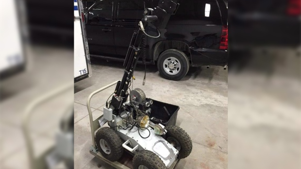 Explosives robot to be donated to school