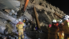 Taiwan earthquake collapse