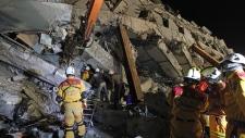 Taiwan earthquake collapse