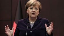 German Chancellor Angela Merkel speaks