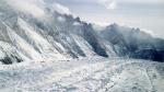 An aerial view of the Siachen Glacier, which traverses the Himalayan region dividing India and Pakistan, about 750 kilometres northwest of Jammu, India on Feb. 1, 2005. (AP / Channi Anand)