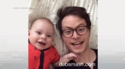 Jeff's Video: Dad loves to lip sync with baby