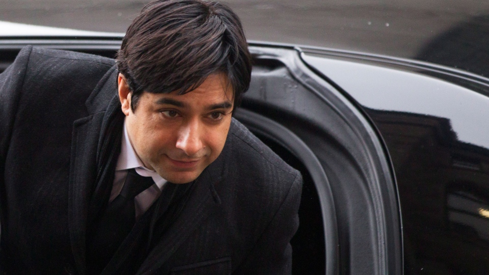Former CBC radio host Jian Ghomeshi arrives at a Toronto court for day six of his trial on Tuesday, Feb. 9, 2016. (Chris Young / THE CANADIAN PRESS)