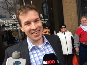 Kristopher Hillis is a free man after being in jail for almost three years in Windsor, Ont., on Tuesday, Feb. 9, 2016. (Teresinha Medeiros / AM800)