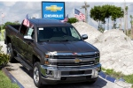 This Wednesday, Oct. 1, 2014 photo shows a 2015 Chevrolet Silverado 2500 4WD LTZ Crew Cab pickup truck at Miami Lakes AutoMall in Miami Lakes, Fla. (Wilfredo Lee / AP Photo)