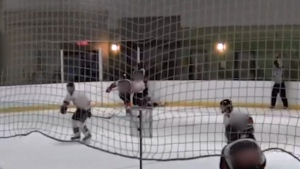 Teen hockey player charged