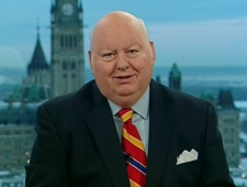 Mike Duffy speaks with Canada AM from CTV studios in Ottawa, Tuesday, Dec. 23, 2008.