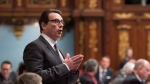 Quebec Opposition Leader Pierre-Karl Peladeau questions the government over the sale of Rona to Lowe's, at the legislature in Quebec City, on Tuesday, Feb. 9, 2016. (THE CANADIAN PRESS/Jacques Boissinot)