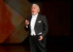 Spanish tenor Placido Domingo performs during the Shakespeare-gala as part of the Budapest Opera Ball in the Hungarian State Opera House in Budapest, Hungary, Saturday, Feb. 6, 2016. (Zoltan Mathe/MTI via AP)