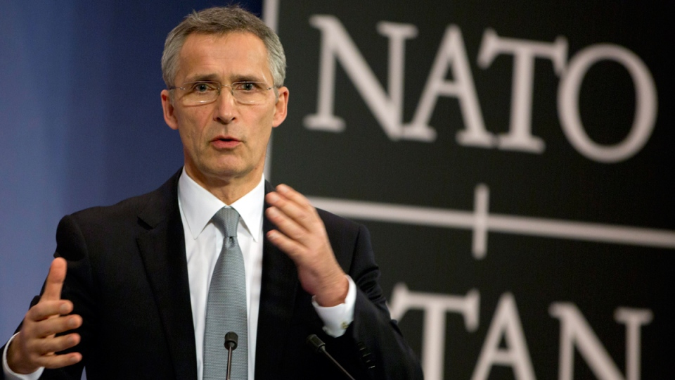 NATO Secretary General Jens Stoltenberg in Brussels on Feb. 10, 2016. (Virginia Mayo / AP)