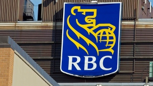 An RBC sign adorns a branch in Dartmouth, N.S., on Thursday, Feb. 26, 2009. (THE CANADIAN PRESS/Andrew Vaughan)