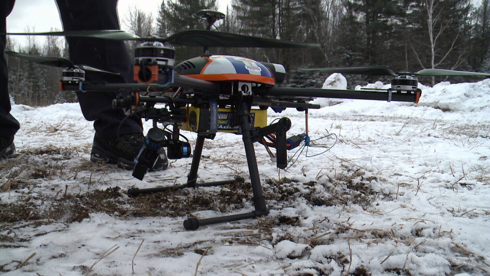 A drone used by the Paramedic Service in the County of Renfrew, Feb. 10, 2016