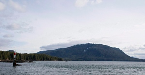 Lelu Island, near Prince Rupert, BC, is seen March 8, 2013. (Robin Rowland / The Canadian Press)