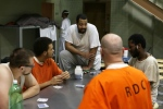 "This image released by A&E Networks shows a scene from ""60 Days In,"" a 12-episode series about a group of innocent civilians who spent two months in an Indiana jail. (A&E Networks via AP)"