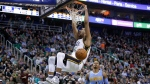 Utah Jazz forward Trey Lyles dunks the ball in Salt Lake City, Utah, on Wednesday, Feb. 3, 2016. (AP Photo/Rick Bowmer)