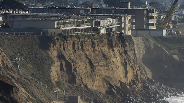 Pacifica, California eroding away