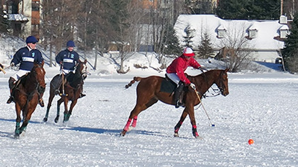 Snow polo on Lac Tremblant