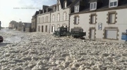Jeff's Video: Sea foam takes over town in France