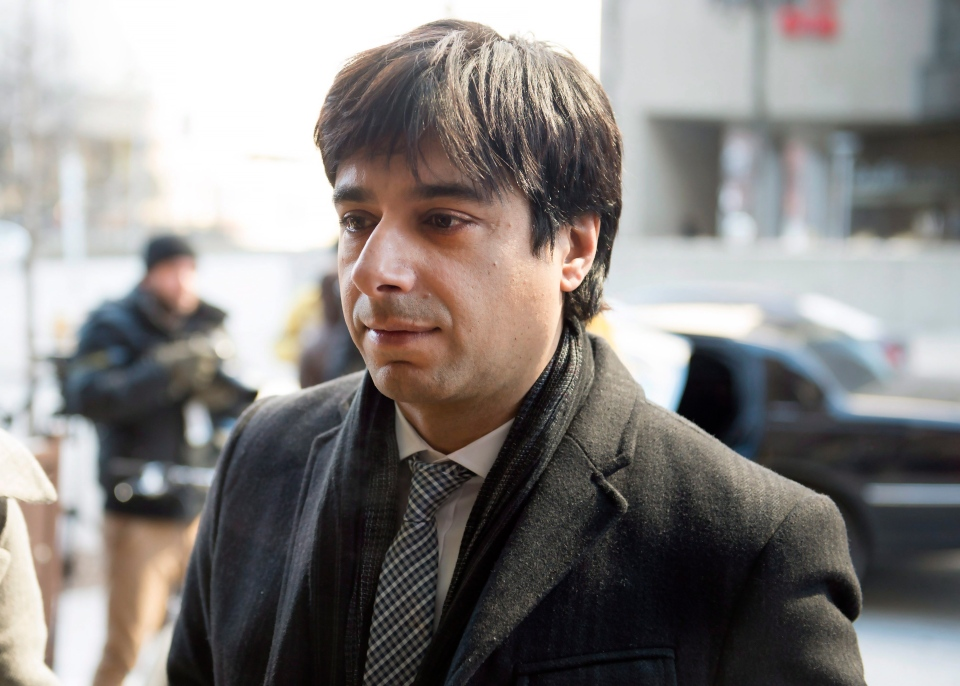 Jian Ghomeshi arrives at a Toronto courthouse for closing arguments in his sexual assault trial on Thursday, Feb. 11, 2016. (Frank Gunn / THE CANADIAN PRESS)
