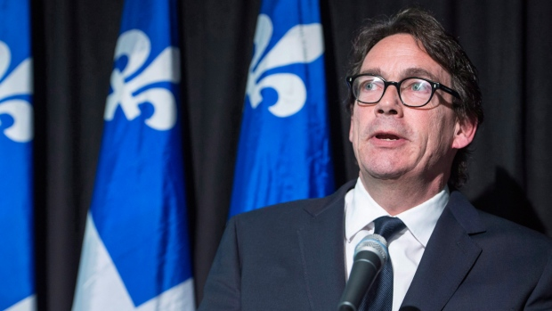 PQ Leader Pierre Karl Peladeau in Montreal