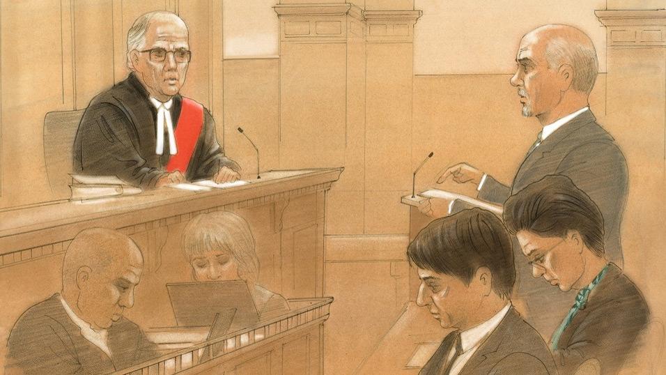 Jian Ghomeshi is seen in a Toronto courtroom on Thursday, Feb. 11, 2016. (John Mantha / CTV Toronto)
