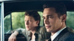 "This image released by Hulu shows James Franco as Jake Epping, right, and George MacKay as Bill Turcotte in a scene from the eight-part series, ""11.22.63,"" streaming on Hulu beginning Monday, Feb. 15, 2016. (Sven Frenzel / Hulu via AP)"