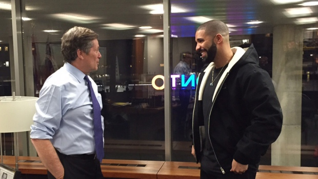 Toronto Mayor John Tory and Drake
