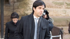 Jian Ghomeshi and his lawyer Marie Henein