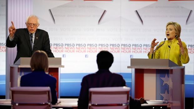 Clinton and Sanders debate in Milwaukee