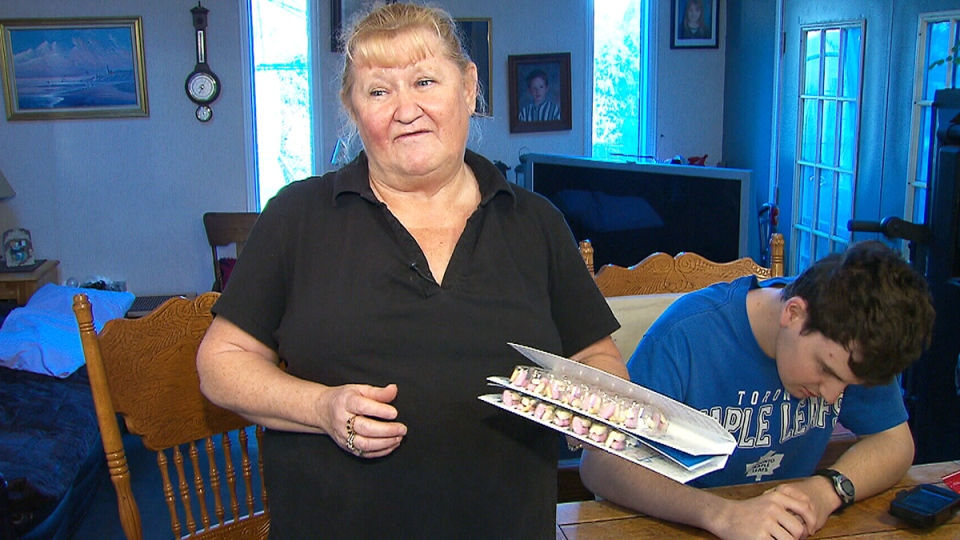 Dot Cole speaks to CTV News about her son Julian's supply of Epival at their home in Whitby, Ont.