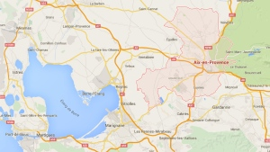 This image from Google Maps show the southern French city of Aix-en-Provence (Google Maps)