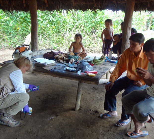 Microbiologist in Checherta huts