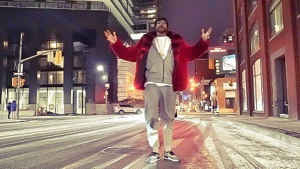 Snoop Dogg stands in Toronto in this photo from his Twitter account (Twitter/@SnoopDogg)