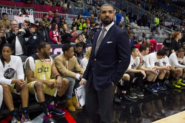 Drake at NBA all-star game