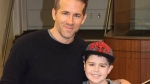 Ryan Reynolds took to Facebook and posted a photo of himself with Edmonton's Connor McGrath, who's battling cancer. (Facebook)
