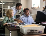 This photo provided by courtesy of Open Road Films shows, Rachel McAdams, from left, as Sacha Pfeiffer, Mark Ruffalo as Michael Rezendes and Brian d'Arcy James as Matt Carroll, in a scene from the film, 'Spotlight.' (Kerry Hayes/Open Road Films via AP, File)